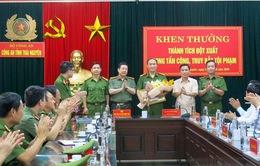Khen thưởng đột xuất đơn vị phá án vụ bắn người trên phố ở Thái Nguyên