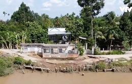 Hiện trường vùng sạt lở bờ sông nghiêm trọng nhất tại Hậu Giang