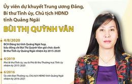 [INFOGRAPHIC] Chân dung bà Bùi Thị Quỳnh Vân - Nữ Bí thư Tỉnh ủy đầu tiên của tỉnh Quảng Ngãi