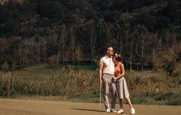 Thu Hoài khoe bộ ảnh sân golf lãng mạn cùng hôn phu doanh nhân