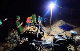 Bắt quả tang 2 vụ khai thác vàng trái phép tại Hà Tĩnh