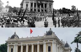 Ký ức lịch sử của mùa Thu 1945 ở Hà Nội qua những bức ảnh xưa và nay