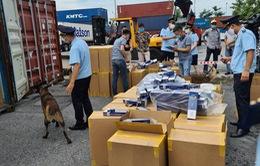 Sẽ tiêu hủy hơn 1 triệu bao thuốc lá giả nhãn hiệu 555 nhập khẩu qua cảng Hải Phòng