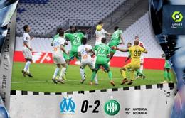 Đá bù VĐQG Pháp Ligue I: Marseille thất bại trước Saint-Etienne