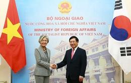 Bộ trưởng Ngoại giao Hàn Quốc là khách nước ngoài đầu tiên thăm chính thức Việt Nam kể từ dịch COVID-19