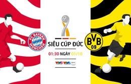 Siêu cúp Đức: Bayern Munich - Dortmund (01h30 ngày 01/10, trực tiếp trên VTV5, VTV6)