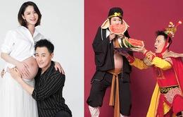 Lâm Phong cùng vợ khoe ảnh bầu siêu hài, xác nhận con gái đã ra đời
