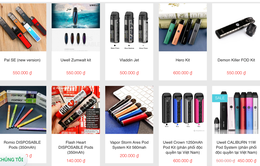 Tất cả thuốc lá điện tử được bán ở Việt Nam đều là hàng lậu và rất độc hại