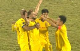 VIDEO: CLB Nam Định là đội bóng đầu tiên ghi được bàn thắng tại V.League 2021