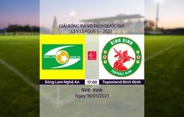 VIDEO Highlights: Sông Lam Nghệ An 1-1 Topenland Bình Định (Vòng 1 LS V.League 1-2021)