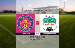 VIDEO Highlights: CLB Sài Gòn 1–0 Hoàng Anh Gia Lai (Vòng 1 LS V.League 1-2021)