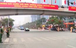 Không xảy ra ùn tắc nghiêm trọng trong ngày đầu phân luồng giao thông phục vụ Đại hội Đảng