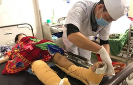 (Cập nhật) Tình hình điều trị các nạn nhân vụ rơi thang thi công ở Nghệ An