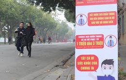Phố đi bộ Hồ Hoàn Kiếm vắng bóng người do lo ngại dịch COVID-19