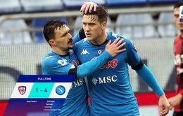Cagliari 1-4 Napoli: Ngày thi đấu chói sáng của Zielinski!