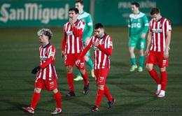 Thua sốc đội bóng hạng 3, Atletico Madrid chia tay Cúp Nhà vua