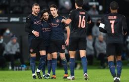 Thắng dễ Swansea, Manchester City ghi tên vào tứ kết FA Cup