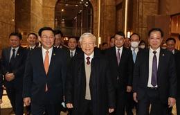 Tổng Bí thư, Chủ tịch nước Nguyễn Phú Trọng đến thăm và chúc Tết Đảng bộ, chính quyền và nhân dân thành phố Hà Nội