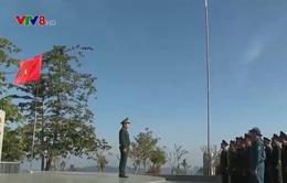 Lễ chào cờ tại cột mốc biên giới 3 nước Đông Dương