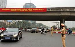 Cảnh sát giao thông Hà Nội phối hợp kiểm soát nghiêm các cửa ngõ ra vào Thủ đô