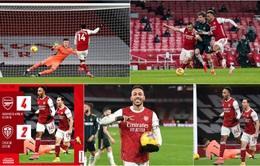 Aubameyang lập hat-trick, Arsenal thắng thuyết phục Leeds