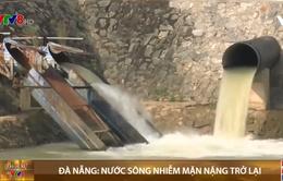 Đà Nẵng: Nước sông nhiễm mặn nặng trở lại