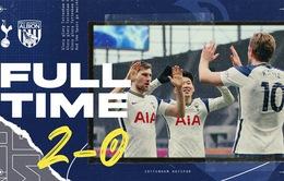 Tottenham 2-0 West Brom: Harry Kane ghi dấu ấn ngày trở lại