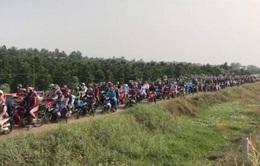 Phân luồng vào cao tốc Trung Lương - Mỹ Thuận