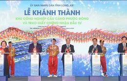 Thủ tướng dự khánh thành Khu công nghiệp Cầu cảng Phước Đông tại Long An