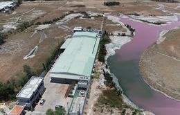 Phát hiện một nhà máy hoạt động không phép trong vụ nước hồ đổi màu tím ở Bà Rịa - Vũng Tàu