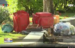 Công viên biến thành bãi tập kết rác