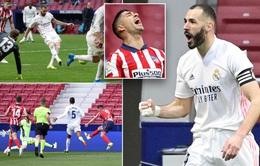 Benzema tỏa sáng, Real thoát thua trận derby Madrid