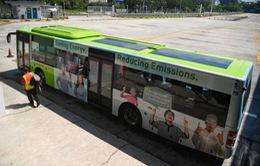 Singapore thử nghiệm xe buýt chạy bằng năng lượng mặt trời