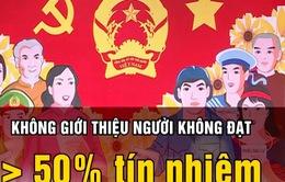 Một số ứng viên đại biểu Quốc hội, HĐND đạt thấp hơn 50% tín nhiệm, có người 2%