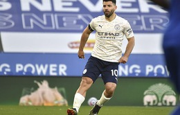 Aguero sẽ vắng mặt trong 3 trận tới của Manchester City