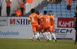SHB Đà Nẵng 2-0 CLB Hà Nội: Đương kim á quân V.League thất bại trên sân Hòa Xuân