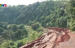 Nguyên nhân sạt lở đường vào thác thiêng Liêng Nung tỉnh Đắk Nông