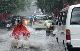 Hà Nội tắc nghẽn vì mưa lớn đầu tuần