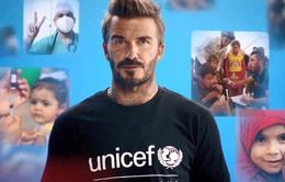 David Beckham kêu gọi trẻ em cần được tiêm các vaccine thường xuyên