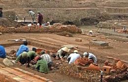 Hình ảnh độc quyền của VTV về phục dựng cung điện thời Lý tại Hoàng thành Thăng Long