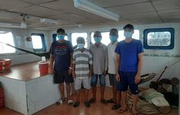 Phát hiện 5 người nhập cảnh trái phép từ Campuchia về bằng đường biển