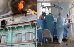 Các bác sĩ Nga nỗ lực hoàn thành ca phẫu thuật trong vụ hỏa hoạn