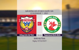VIDEO Highlights: Hồng Lĩnh Hà Tĩnh 1-1 Topenland Bình Định (Vòng 8 LS V.League 1-2021)