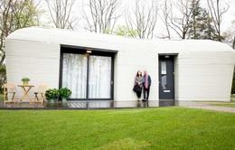 Ngôi nhà in 3D đầu tiên ở Hà Lan đã có người thuê