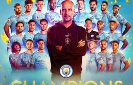 Vô địch sớm Ngoại hạng Anh, Man City đi vào lịch sử giải đấu