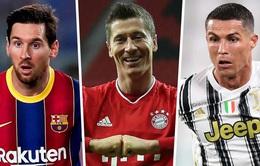 Lewandowski bỏ xa Ronaldo và Messi trên BXH Chiếc giày vàng châu Âu 2020/21