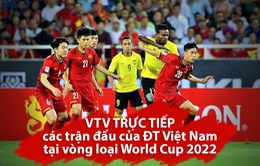 Lịch trực tiếp 3 trận đấu vòng loại thứ 2 World Cup 2022 của ĐT Việt Nam trên sóng VTV
