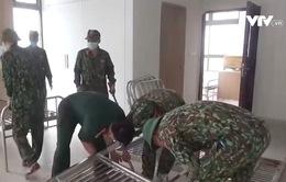 Hà Nam: Tăng cường hàng trăm chiến sĩ tham gia khoanh vùng dập dịch