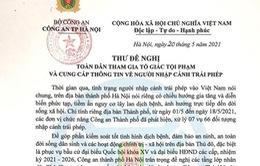 Công an Hà Nội đề nghị người dân cung cấp thông tin về người nhập cảnh trái phép