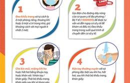 Nên làm gì khi có biểu hiện sốt, ho, đau họng, khó thở?